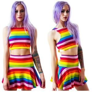 UNIF Rainbow Iggy Skirt